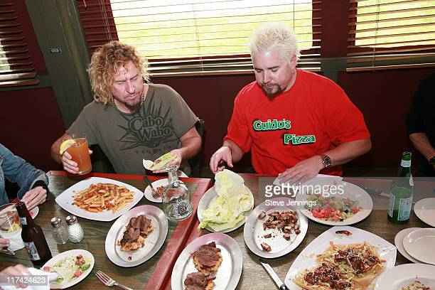 Sammy Hagar and Guy Fieri sit down to eat meals made with Cabo Wabo tequila