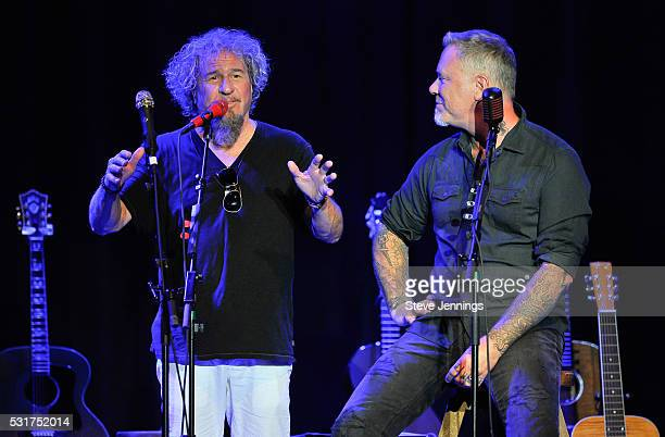 Sammy Hagar and James Hetfield perform at the 3rd Annual Acoustic4ACure concert a Benefit for the Pediatric Cancer Program at UCSF Benioff Children's...