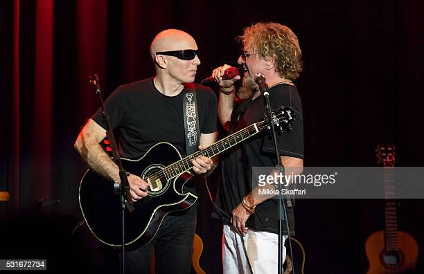 Sammy Hagar and Joe Satriani perform at 3rd annual Acoustic4aCure benefit concert at The Fillmore on May 15 2016 in San Francisco California
