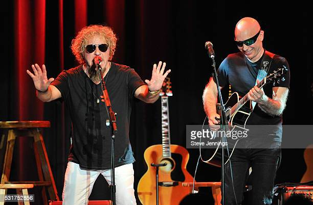 Sammy Hagar and Joe Satriani perform at the 3rd Annual Acoustic4ACure concert a Benefit for the Pediatric Cancer Program at UCSF Benioff Children's...
