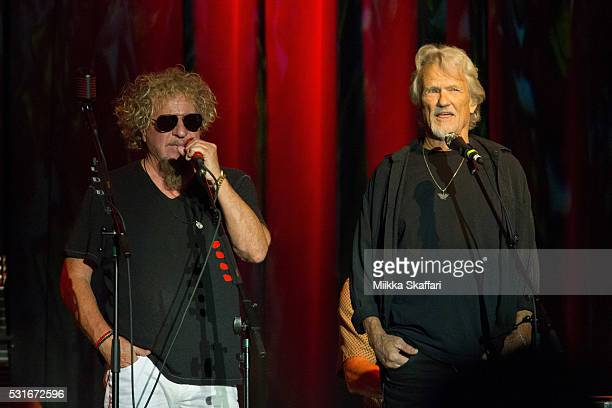 Sammy Hagar and Kris Kristofferson performs at 3rd annual Acoustic4aCure benefit concert at The Fillmore on May 15 2016 in San Francisco California