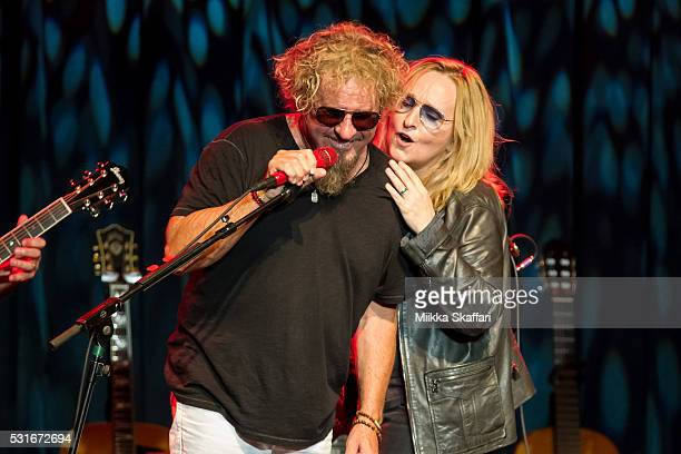 Sammy Hagar and Melissa Etheridge perform at 3rd annual Acoustic4aCure benefit concert at The Fillmore on May 15 2016 in San Francisco California