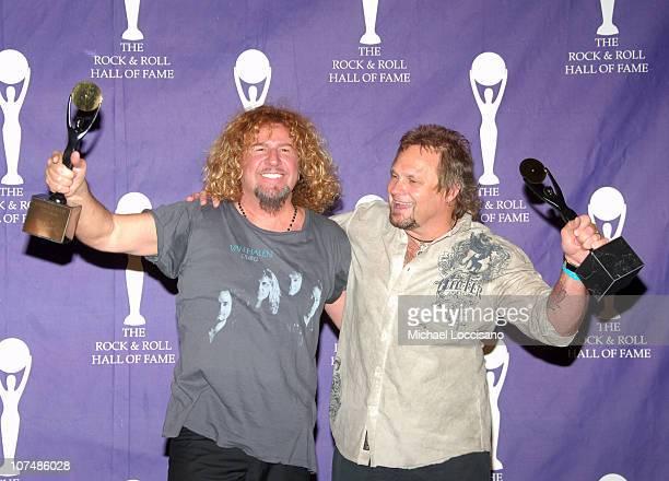 Sammy Hagar and Michael Anthony of Van Halen, inductees