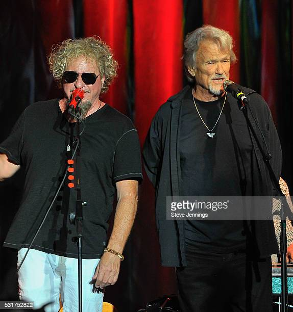 Sammy Hagar and surprise guest Kris Kristofferson perform at the 3rd Annual Acoustic4ACure concert a Benefit for the Pediatric Cancer Program at UCSF...