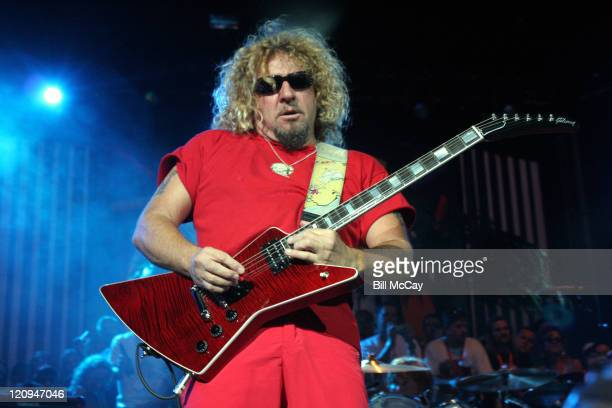 Sammy Hagar and the Cabo Wabos during Sammy Hagar in Concert at the Tweeter Center July 1 2006 at Tweeter Center in Camden New Jersey United States