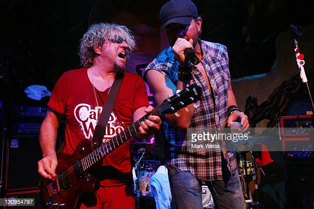 Sammy Hagar and Toby Keith perform during Hagar's 60th birthday bash at Cabo Wabo Cantina October 13 2007 in Cabo San Lucas Mexico