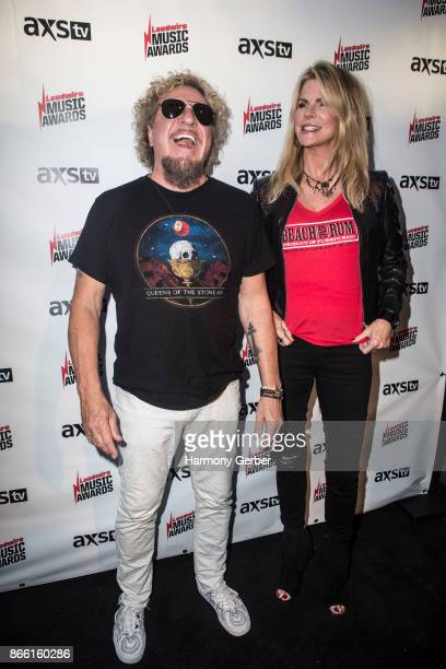 Sammy Hagar and wife Kari Hagar attend the Loudwire Music Awards at The Novo by Microsoft on October 24 2017 in Los Angeles California