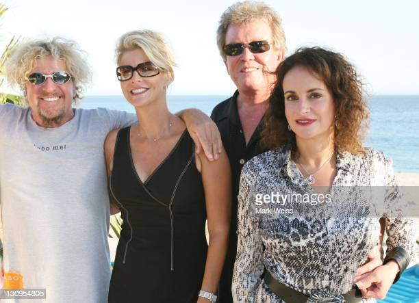 Sammy Hagar and wife Kari with Ray Woolridge at Sammy's home during charity event for the Emeril Lagasse Foundation Ray donated $220000 to the charity