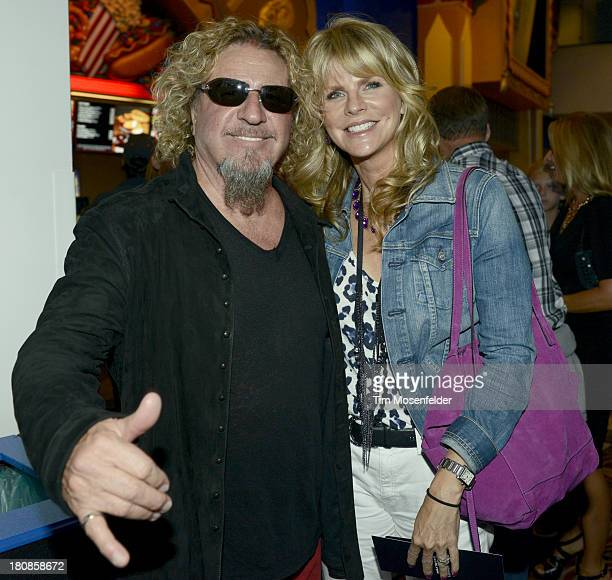 Sammy Hagar ans wife Kari Hagar attend the US Premiere of Metallica Through The Never at the AMC Metreon on September 16 2013 in San Francisco...