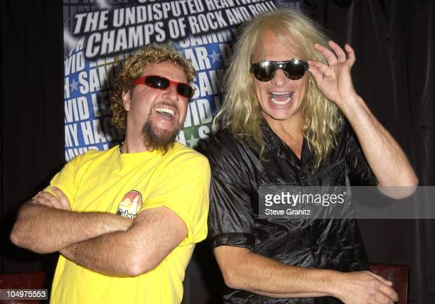 Sammy Hagar David Lee Roth during Sammy Hagar David Lee Roth Tour 2002Song For SongThe Heavyweight Champs Of Rock 'N Roll at Sky Bar in Los Angeles...