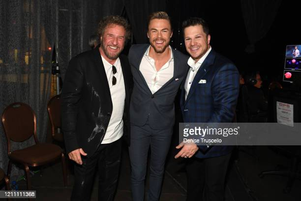 Sammy Hagar Derek Hough and Mark Shunock attend the 24th annual Keep Memory Alive 'Power of Love Gala' benefit for the Cleveland Clinic Lou Ruvo...