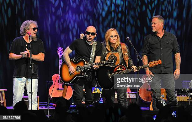 Sammy Hagar Joe Satriani Melissa Etheridge and James Hetfield perform at the 3rd Annual Acoustic4ACure concert a Benefit for the Pediatric Cancer...