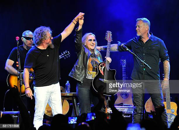 Sammy Hagar Melissa Etheridge and James Hetfield perform at the 3rd Annual Acoustic4ACure concert a Benefit for the Pediatric Cancer Program at UCSF...