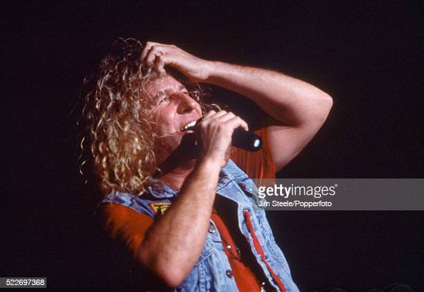 Sammy Hagar of Van Halen performing on stage at the Wembley Arena in London on the 29th April 1993