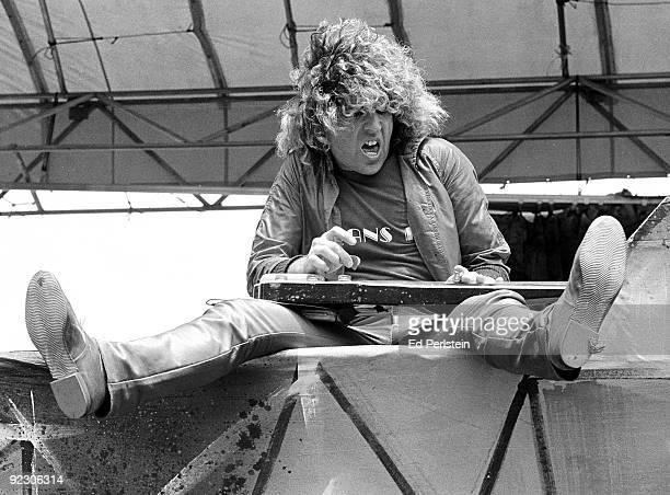 Sammy Hagar performs at Oakland Stadium in May 1979 in Oakland California