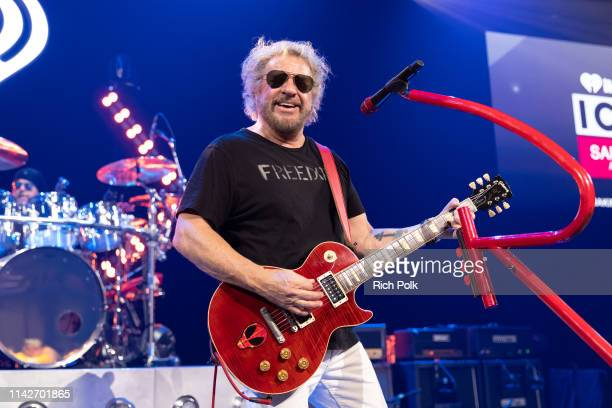 Sammy Hagar performs on stage during iHeartRadio ICONS with Sammy Hagar and The Circle Inside The Making of Space Between at iHeartRadio Theater on...