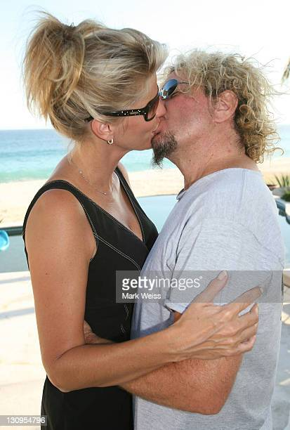 Sammy Hagar with wife Kari hosting a charity event for the Emeril Lagasse Foundation at there home in Los Cabo raising $220000