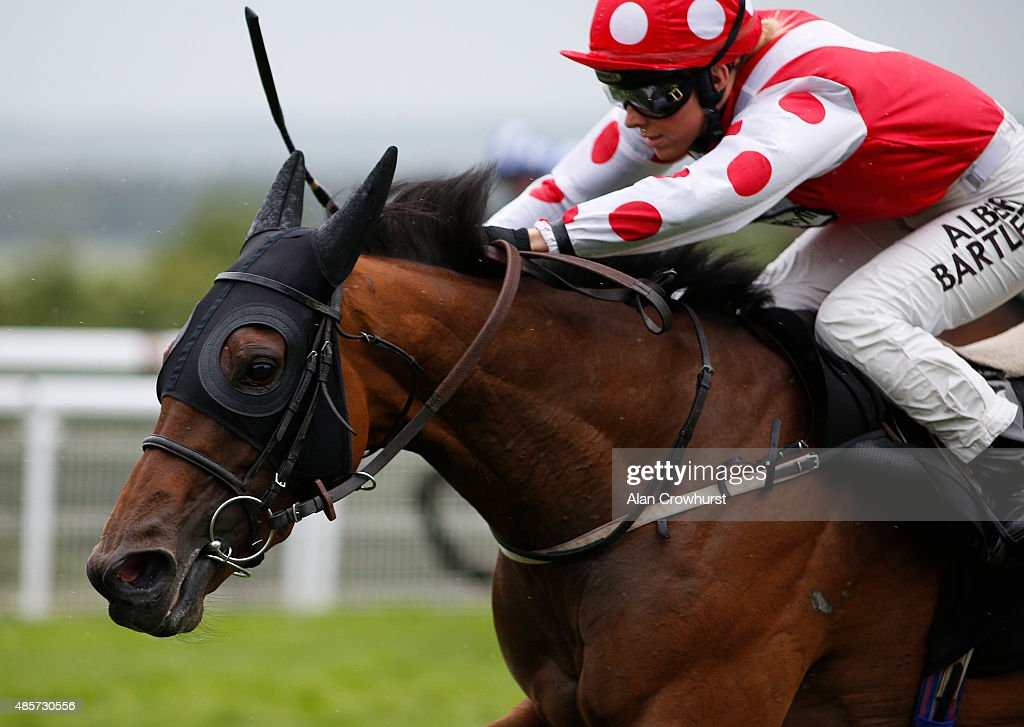 Sammy Jo Bell riding Imshivalla win The Whiteley Clinic Stakes at Goodwood racecourse on August 29, 2015 in Chichester, England.