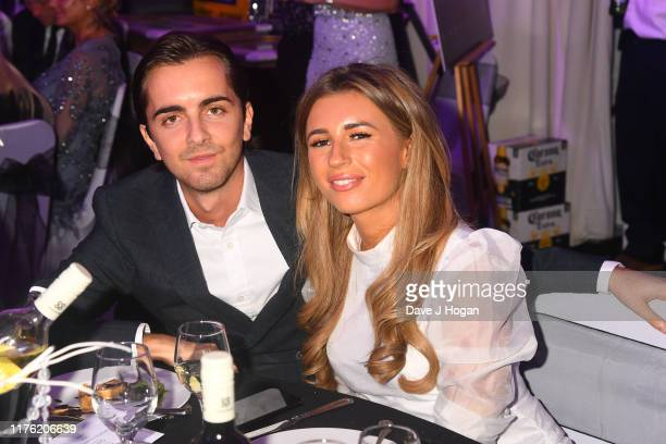 Sammy Kimmence and Dani Dyer during the Paul Strank Charity Gala at the Bank of England Sports Centre on September 21 2019 in London England