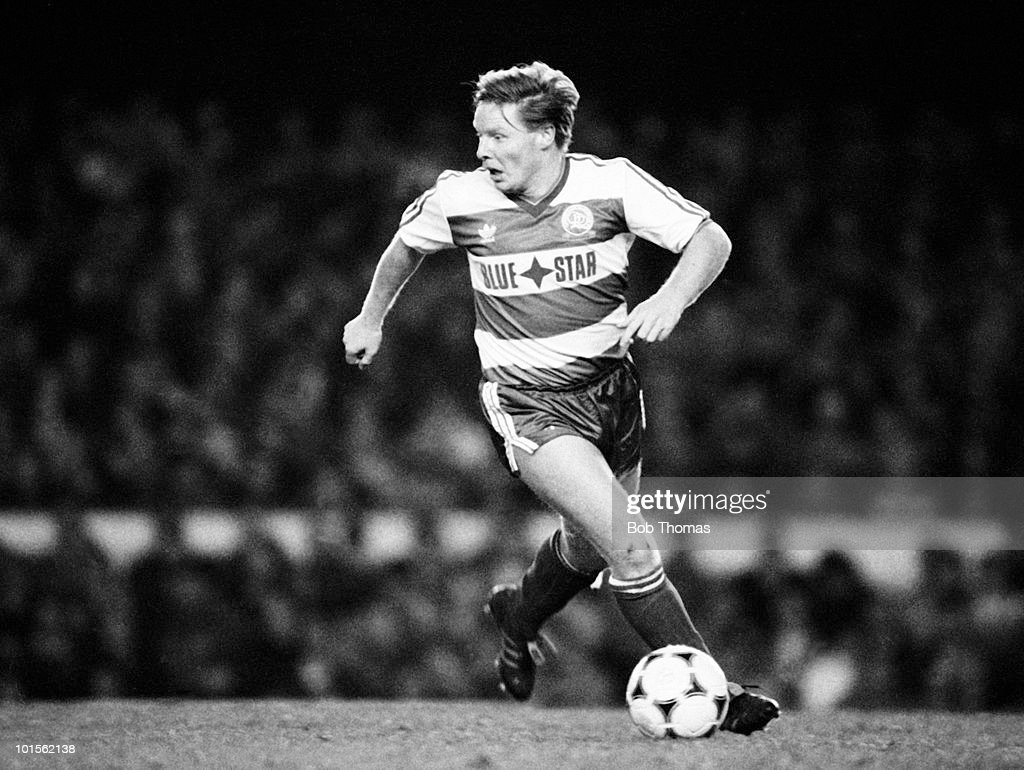 Sammy Lee of Queens Park Rangers in action against Arsenal during a Division One match held at Highbury, London on 6th December 1986. Arsenal beat Queens Park Rangers 3-1. (Bob Thomas/Getty Images).