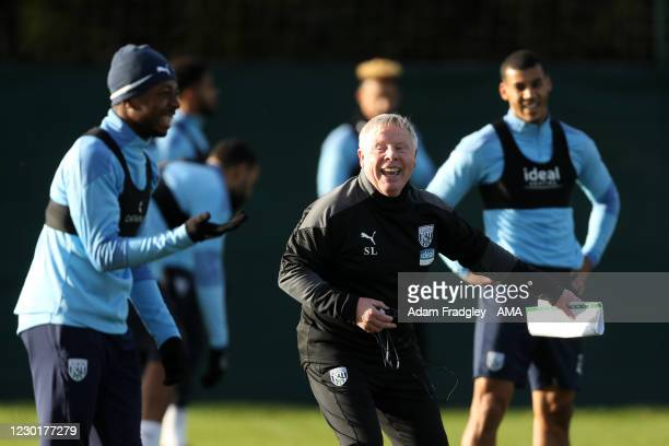 Sammy Lee the Assistant Coach of West Bromwich Albion leads his first training session at Monster Energy training complex on his first day on...
