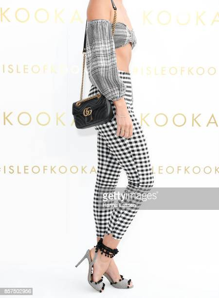 Sammy Robbinson wearing GG Marmont mini bag by Gucci at the KOOKAI Spring/Summer 17/18 Collection Launch on October 4 2017 in Sydney Australia