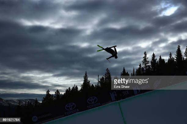 Sammy Schuiling competes in the Superpipe qualification during Day 1 of the Dew Tour on December 13 2017 in Breckenridge Colorado