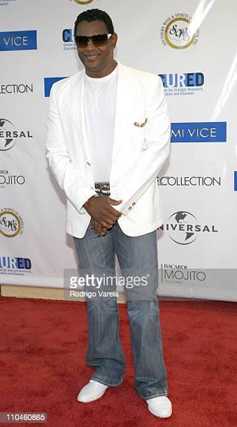 """Sammy Sosa during """"Miami Vice"""" Miami Premiere at Lincoln Theatre in Miami Beach, Florida, United States."""