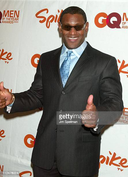 Sammy Sosa during Spike TV Presents the 2003 GQ Men of the Year Awards Press Room at The Regent Wall Street in New York City New York United States