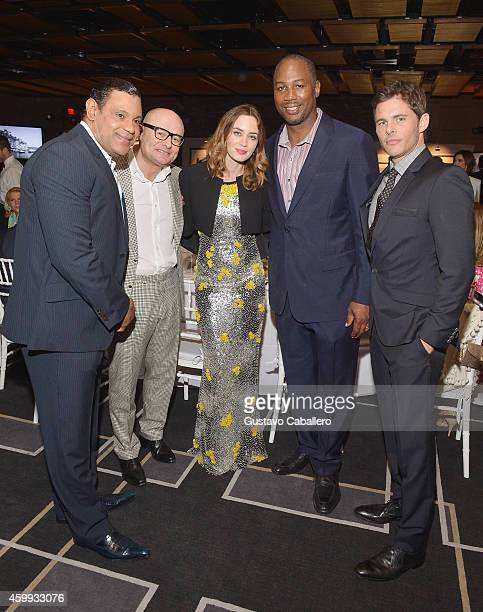 Sammy Sosa Georges Kern Emily Blunt Lennox Lewis and James Marsden attend IWC Schaffhausen celebrates ''Timeless Portofino'' Gala Event during Art...