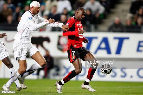 Sammy TRAORE / John UTAKA - 18.03.07 - Rennes / Paris SG - 29eme Journee de Ligue 1,