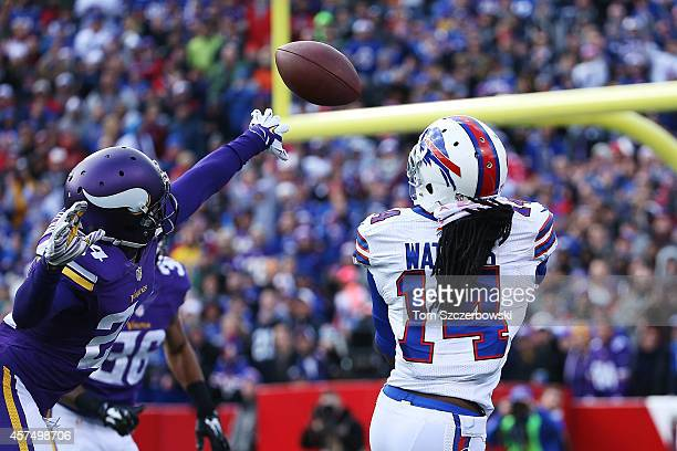 Sammy Watkins of the Buffalo Bills makes a touchdown catch against the Minnesota Vikings during the first half at Ralph Wilson Stadium on October 19...