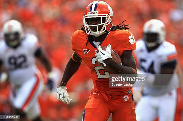 Sammy Watkins of the Clemson Tigers runs with the ball against the Auburn Tigers during their game at Memorial Stadium on September 17, 2011 in...