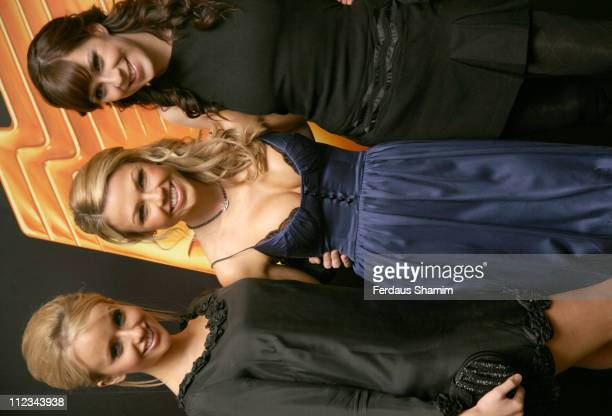 Sammy Winward Adele Silva and Verity Rushworth during RTS Programme Awards 2007 Inside Arrivals at Grosvenor House in London Great Britain