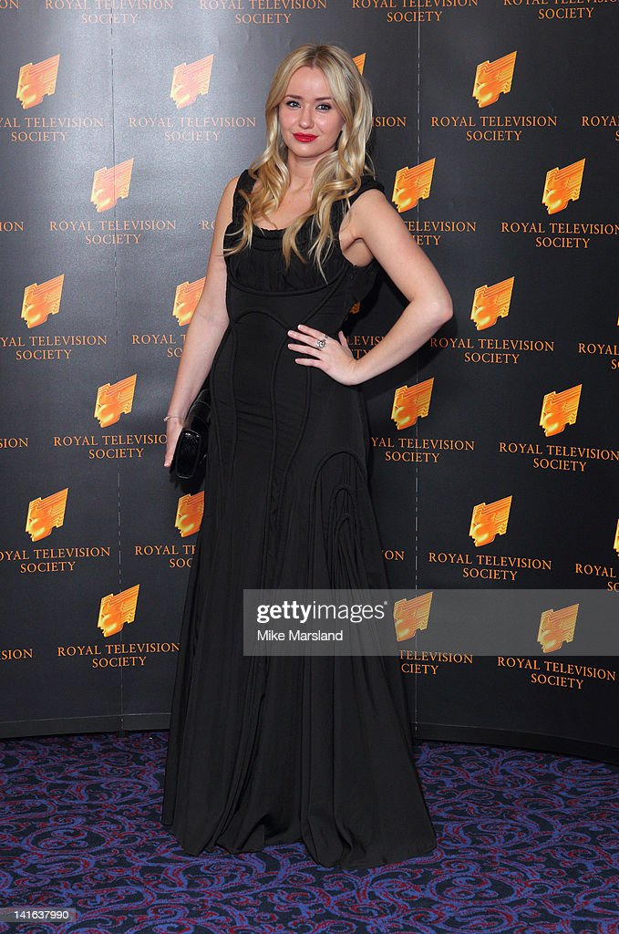 Sammy Winward attends the RTS Programme Awards at Grosvenor House, on March 20, 2012 in London, England.