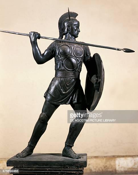 Samnite warrior bronze statue Roman civilisation 3rd century BC Rome Museo Della Civiltà Romana
