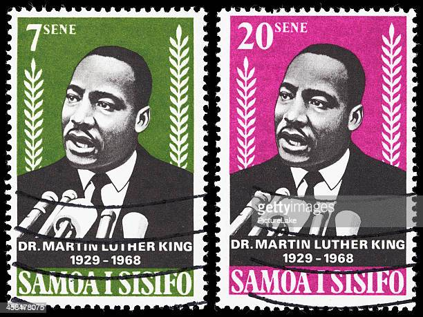 samoa dr martin luther king jr postage stamps - martin luther king stockfoto's en -beelden