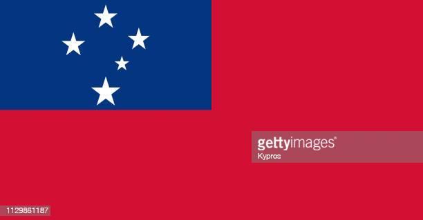 samoa flag - samoa stock pictures, royalty-free photos & images