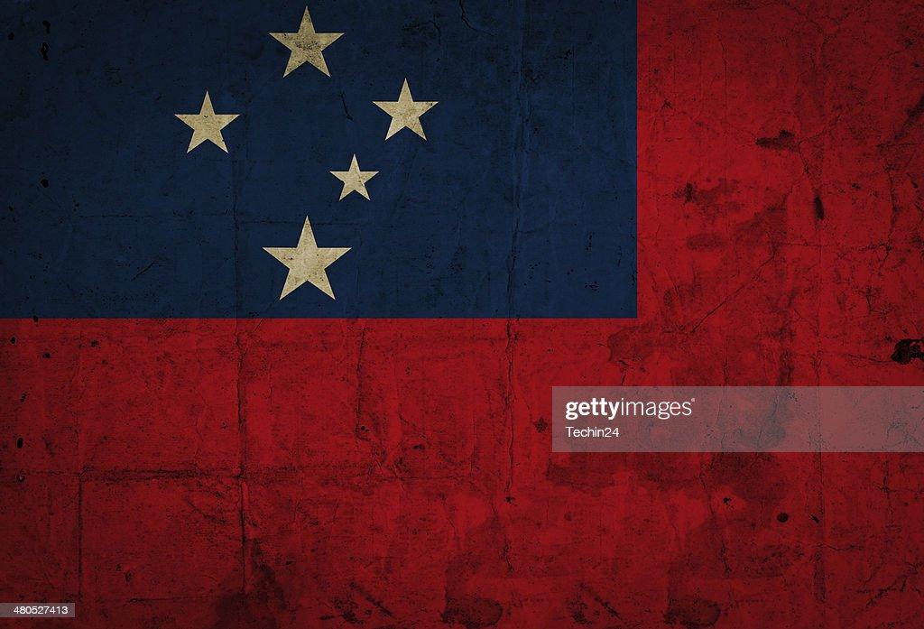 Samoa Flag : Stock Photo