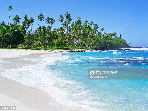 Samoan coastline, Upolu Island; Upolu, Samoa