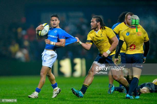 Samoa's Melani Matavao in action during International Friendly Rugby match at National Stadium ''Arcul de Triumf'' on November 18th 2017 in Bucharest...