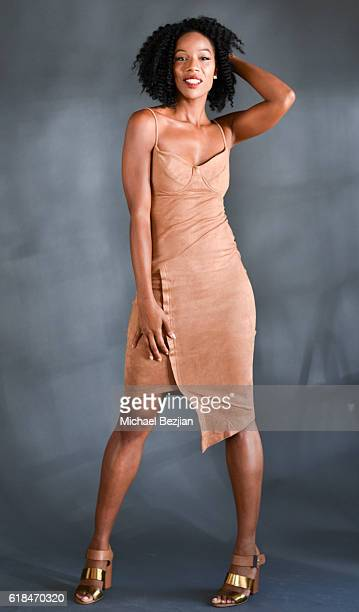 Samora Suber poses for portrait at Cast Of 'Strings' Visits The Starving Artists Project The SAP on October 26 2016 in Los Angeles California