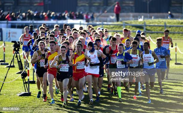 Samorin Slovakia 10 December 2017 A general view of the field during the U23 Men's event during the European Cross Country Championships 2017 at...