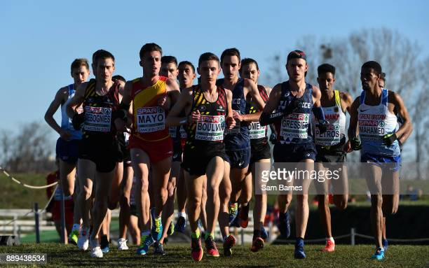 Samorin Slovakia 10 December 2017 A general view of the U23 Men's event during the European Cross Country Championships 2017 at Samorin in Slovakia