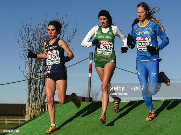 Samorin Slovakia 10 December 2017 Bethanie Murray of Ireland centre competing in the U23 Women's event during the European Cross Country...