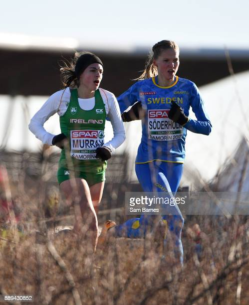 Samorin Slovakia 10 December 2017 Bethanie Murray of Ireland left and Linn Söderholm of Sweden competing in the U23 Women's event during the European...