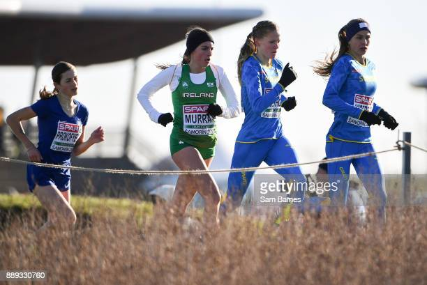 Samorin Slovakia 10 December 2017 Bethanie Murray of Ireland second from left competing in the U23 Women's event during the European Cross Country...