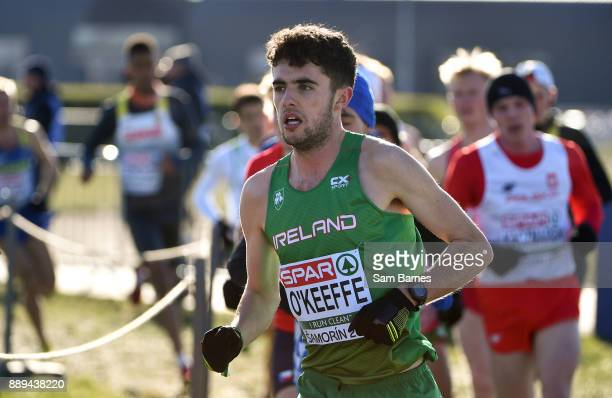 Samorin Slovakia 10 December 2017 Tom O'Keeffe of Ireland competing in the U23 Men's event during the European Cross Country Championships 2017 at...