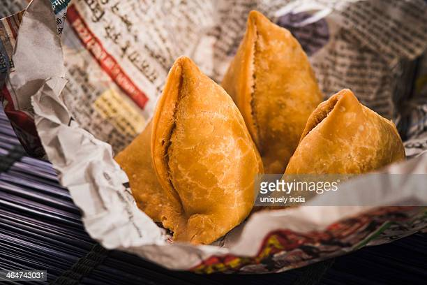 Samose wrapped in a paper