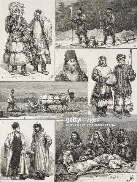 1 Samoyede man and Woman 2 Russian peasants exiled on the Obi river 3 The Archbishop of Krasnoyarsk 4 Musicians 5 Plowing in Siberia 6 Merchant and...